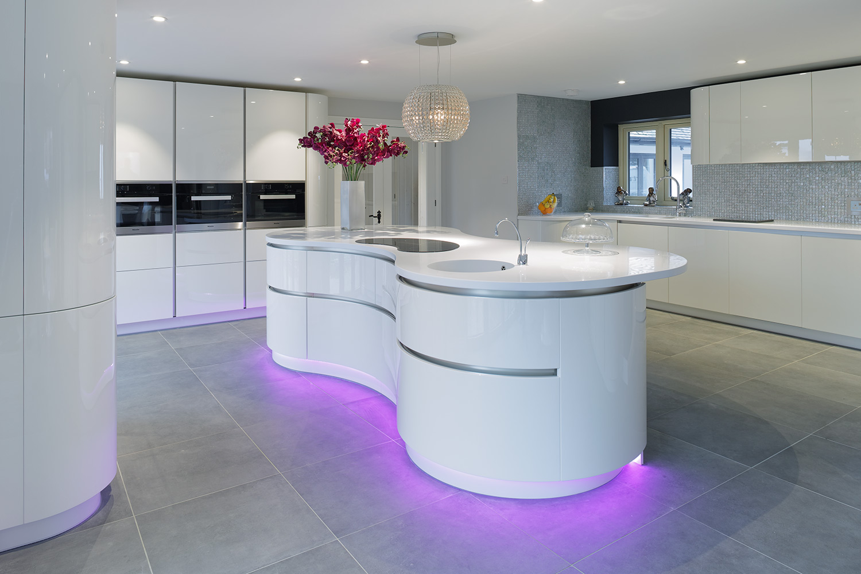 Designer Curved Kitchen Image