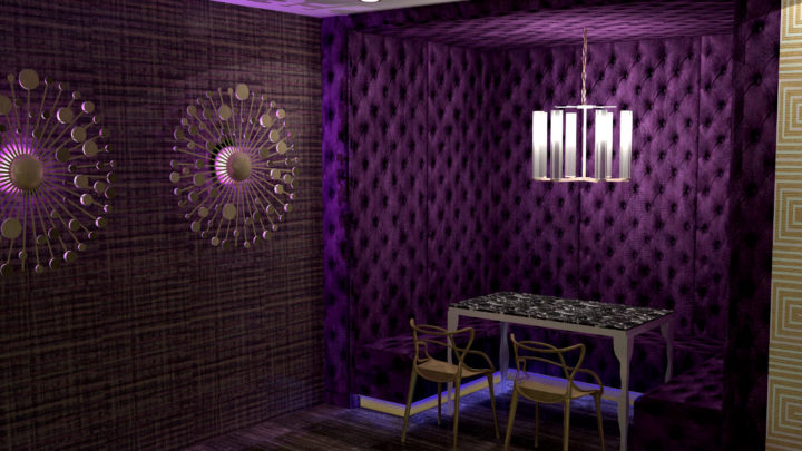 private bar and entertainment space interiors